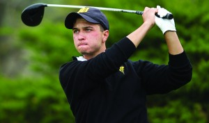 Golf swings for the fences, jumps a spot in NCAC standings