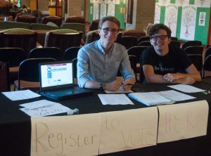 Students register to vote amidst policy confusion
